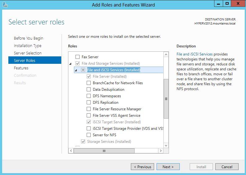 iSCSI Target Server and #Microsoft Virtual Windows Server ...