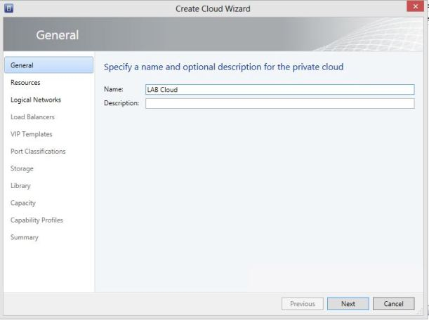 Create Cloud 1