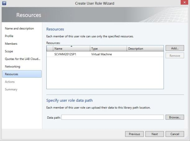 Create User Role Tenant for Private Cloud 10