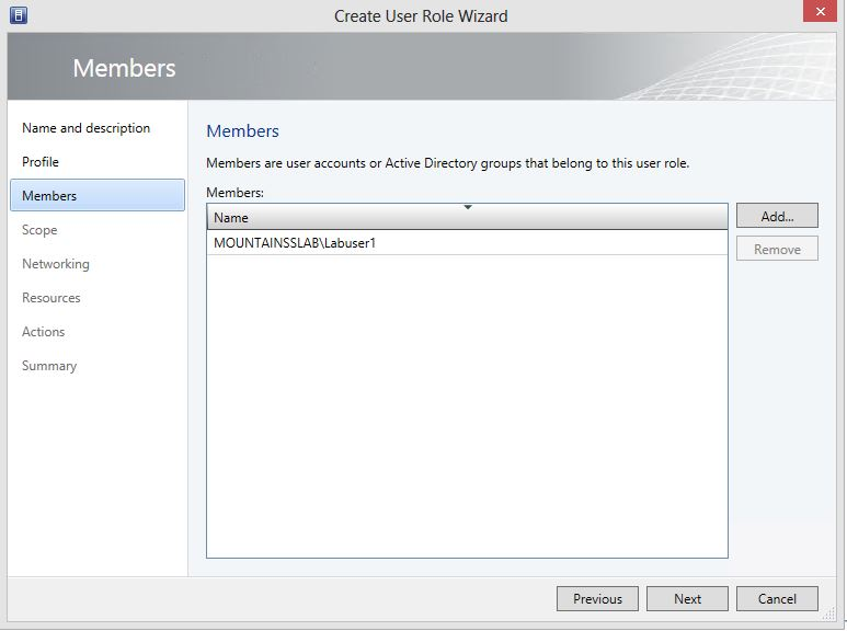 Create User Role Tenant for Private Cloud 4