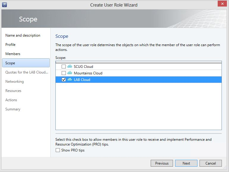 Create User Role Tenant for Private Cloud 5