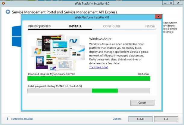 WindowsAzure for WS2012 install