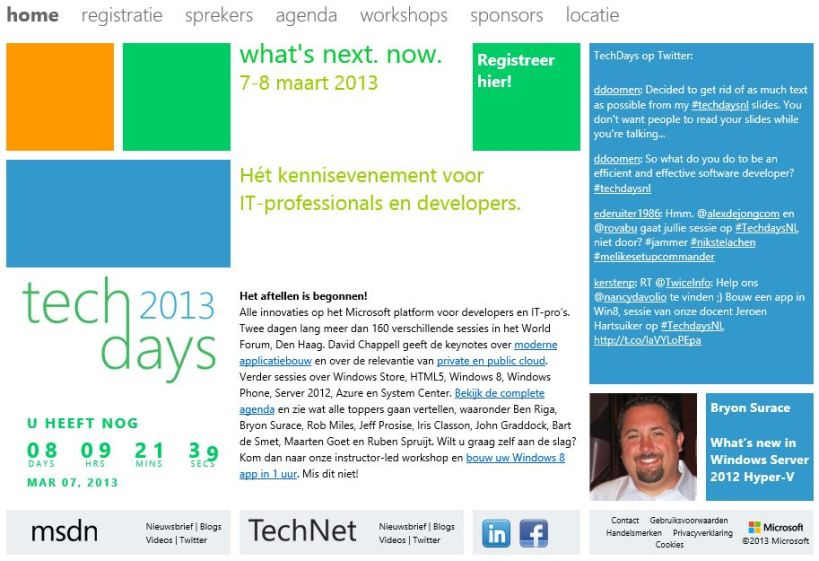 Microsoft TechDays 2013