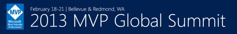 MVP Global Summit 2013