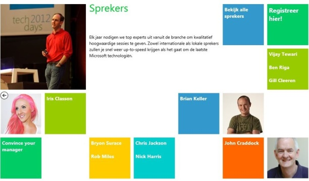 Sprekers TechDays 2013