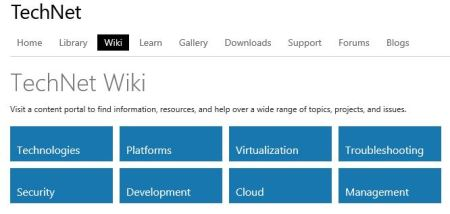 Technet WiKi site