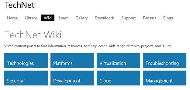 Technet WiKi site