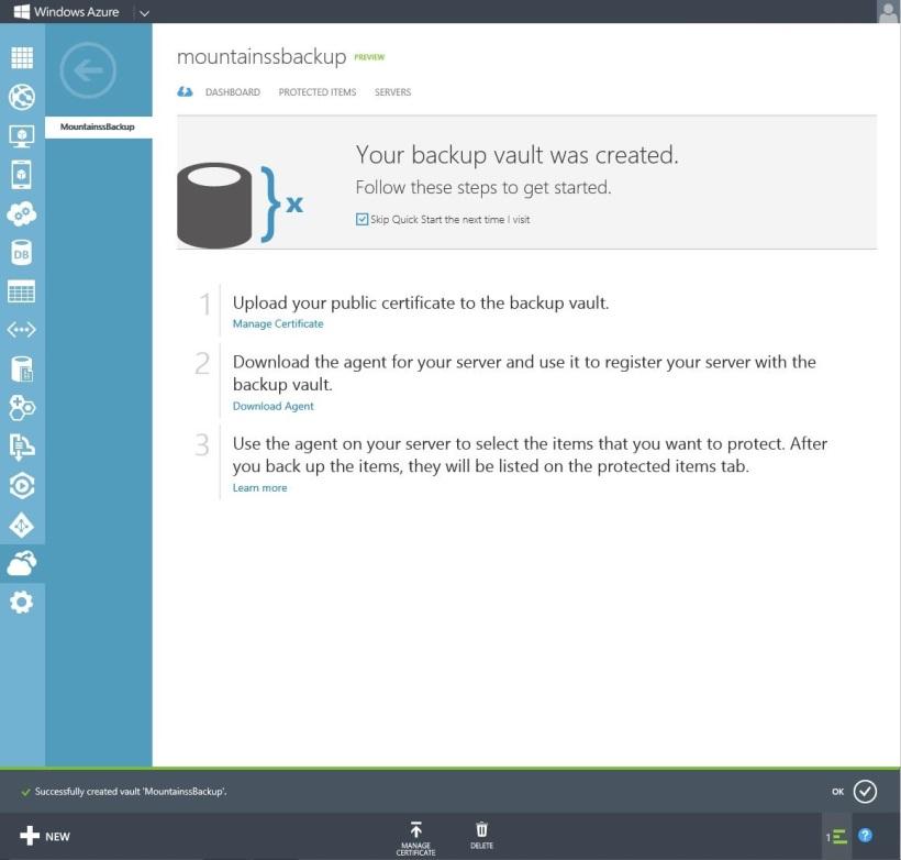 Backup VAULT Online 2