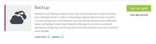 WindowsAzure Backup Services