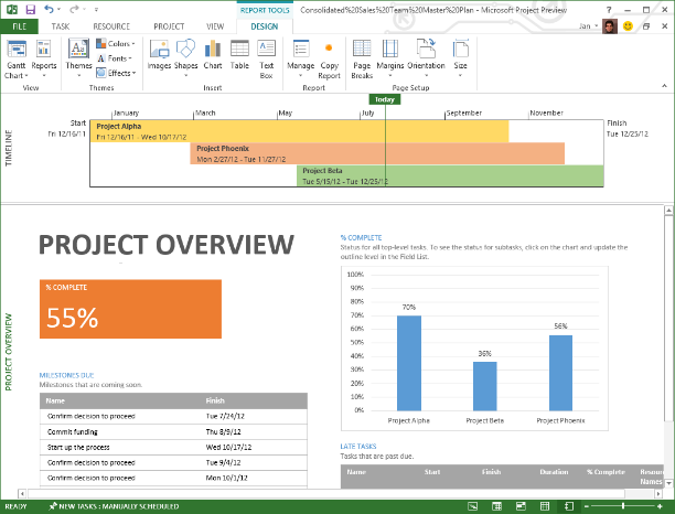 Use project server online in office365 to manage your for House project online