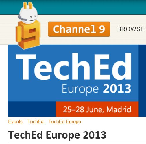 TechEd 2013 Europe Madrid