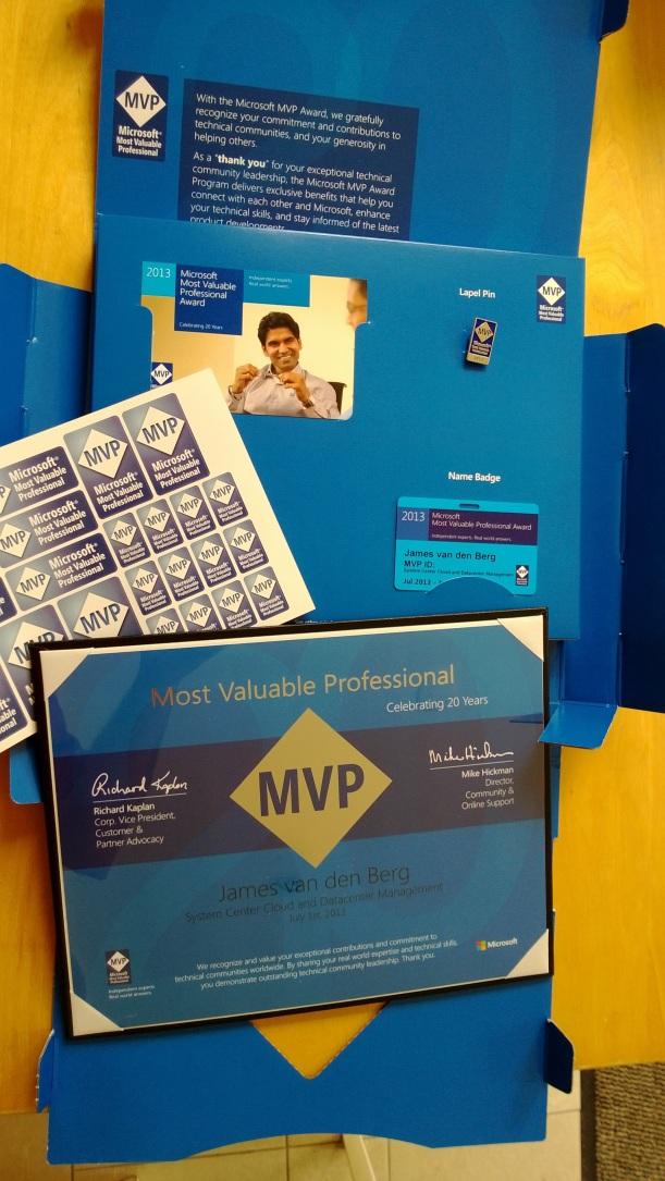 MVP Award 2013 -2
