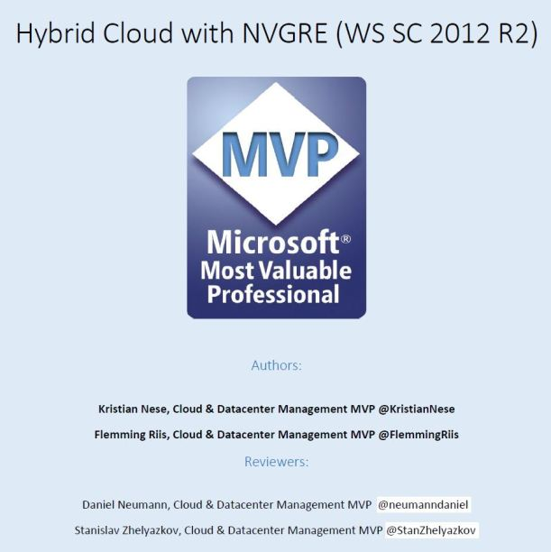 Hybrid Cloud with NVGRE