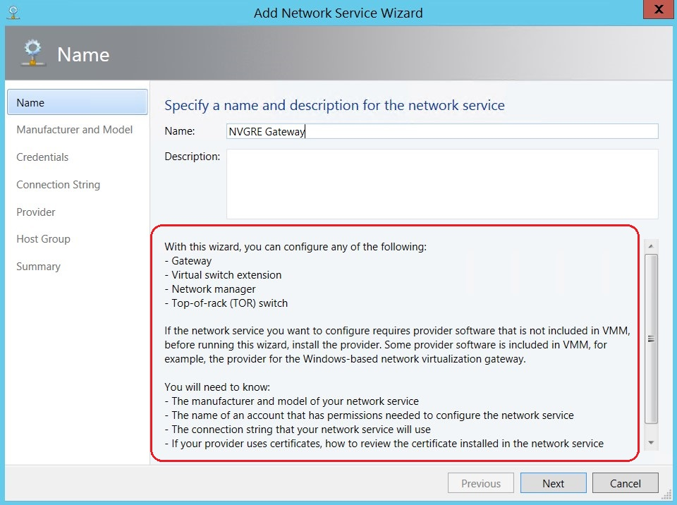 Making a NVGRE Gateway with System Center 2012 R2 Virtual Machine