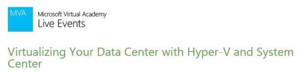 MVA Virtualizing your Datacenter
