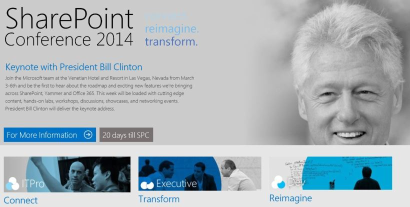 Sharepoint and Bill Clinton