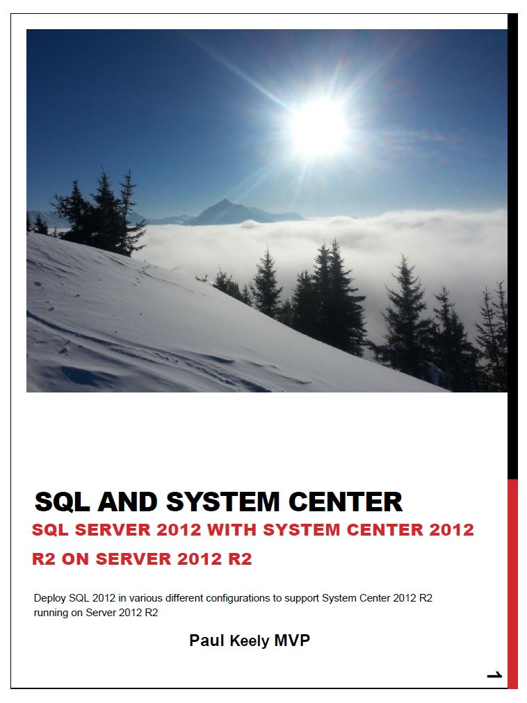 SQL and System Center