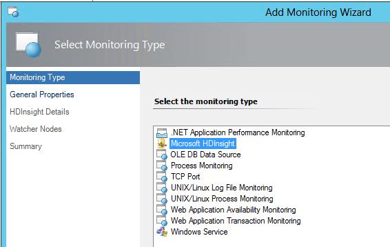 MS HDInsight monitoring