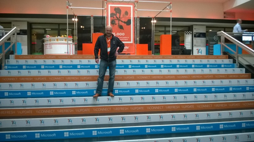 On the TechDaysNL Stairs