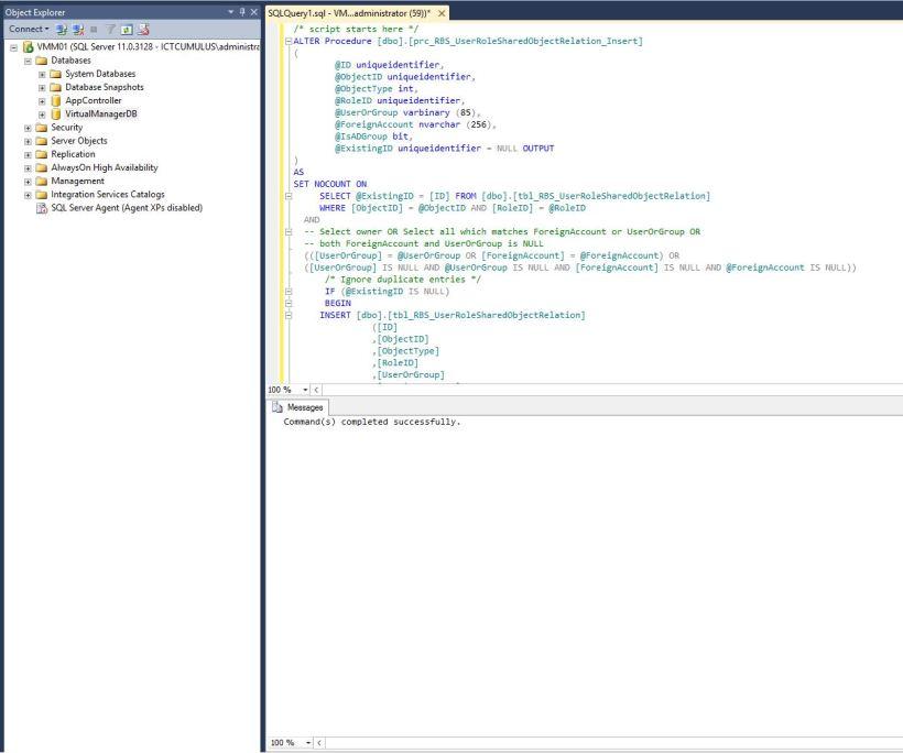 Rollupdate 2 SCVMM 2012 R2 Script execute