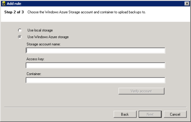 SQL Server Backup to Azure 5