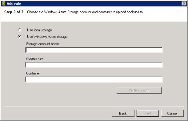 SQL Server Backup to Azure 5