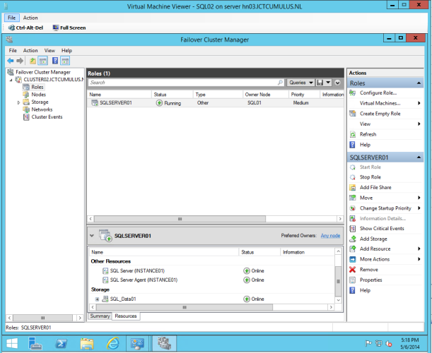 Failover Cluster Manager 4