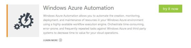 Windows Azure Automation