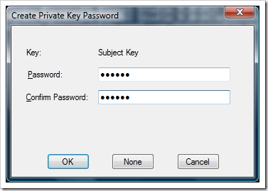 Cer password