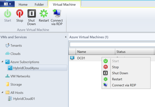 SCVMM Azure Features
