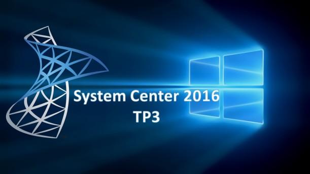 System Center 2016 TP3