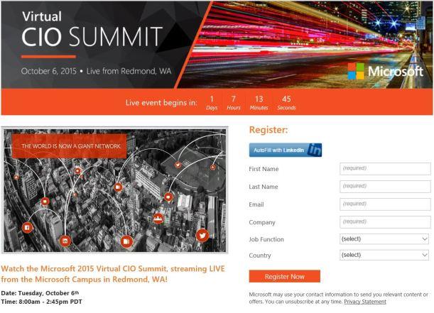 CIO Summit 2015