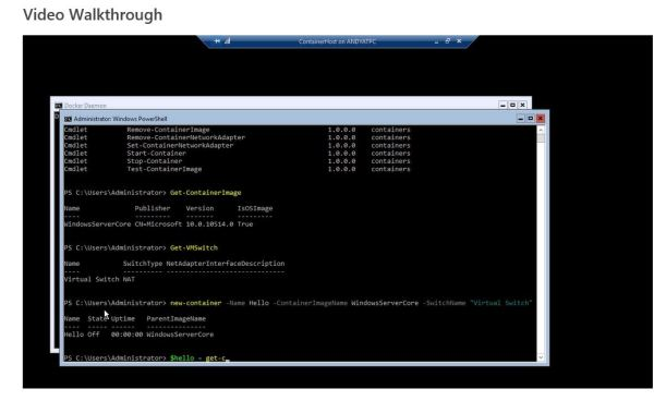 Containers_Powershell_Video