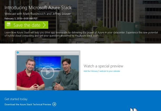 Azure Stack Webcast