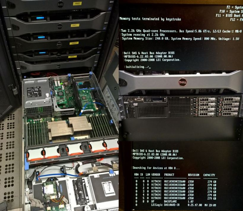 Dell PowerEdge R710-240GB-Dual QuadCore 2.26GHz
