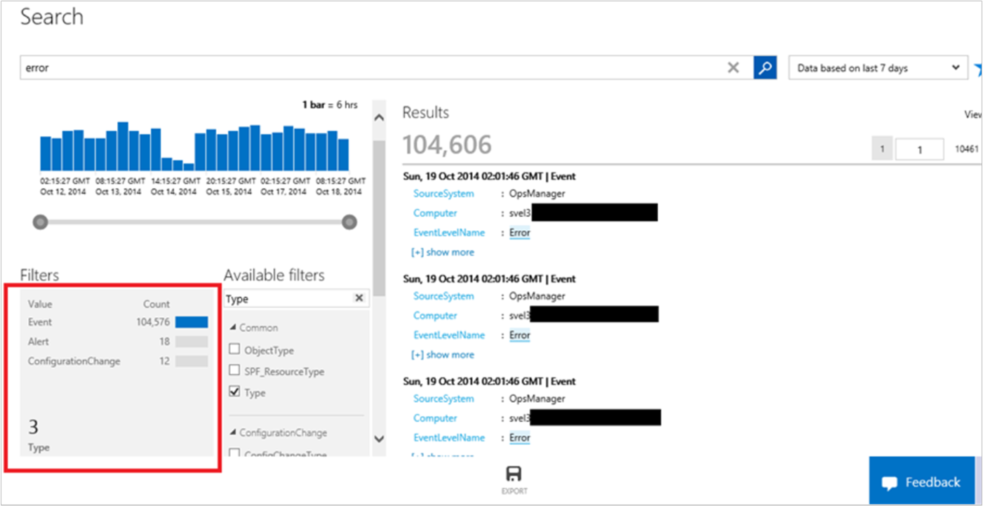 microsoft search operations management suite logs explained msoms