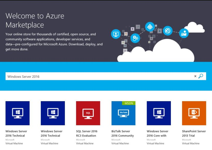 Windows Server 2016 on Azure