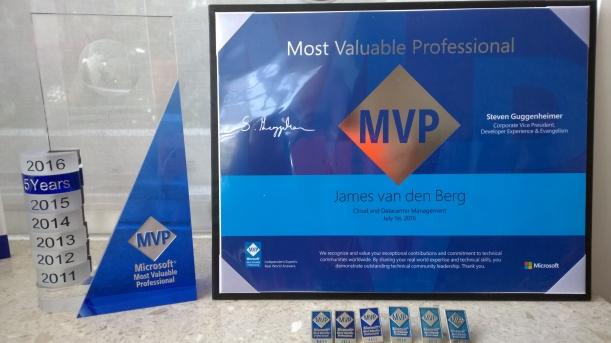 MVP Award 2016 CDM James