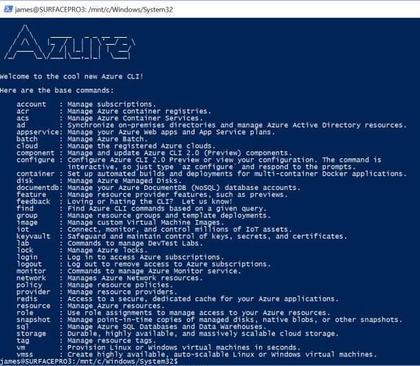 #Microsoft Azure CLI 2.0 in Ubuntu #Bash of #Windows 10 #Linux #Azure #DevOps