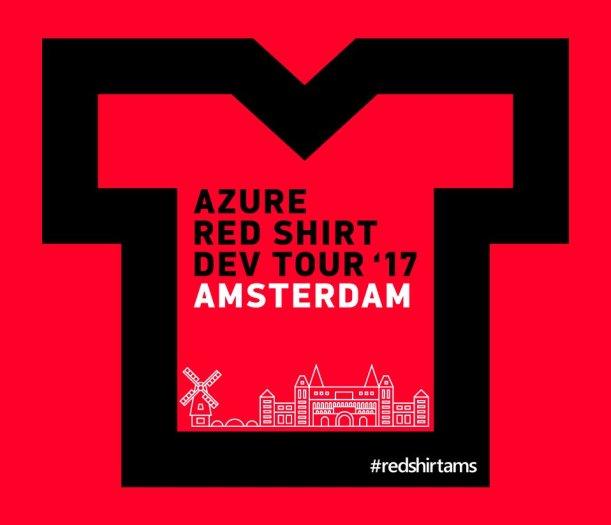 #RedShirtAMS Wednesday 24th of May 2017 with @scottgu in Amsterdam #DevOps #Developers #Azure #AzureStack