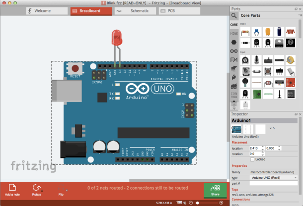 Learning #IoT Coding with #Fritzing Emulator is Cool for #Education
