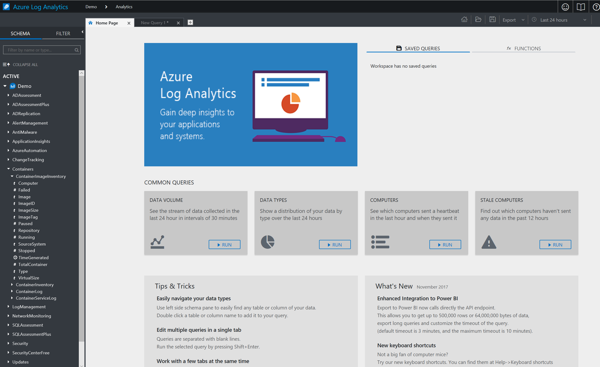 Microsoft Azure Log Analytics Query Playground Available #MSOMS