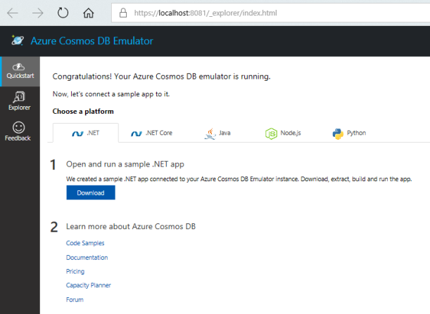 Use the Azure Cosmos DB Emulator for local development and testing #Azure #CosmosDB #DevOps #Docker
