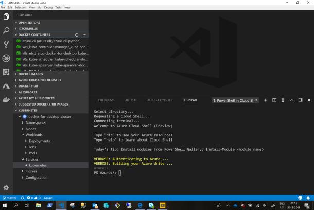 I Love #Microsoft Azure CloudShell in Visual Studio Code #VSC #Azure #Cloud