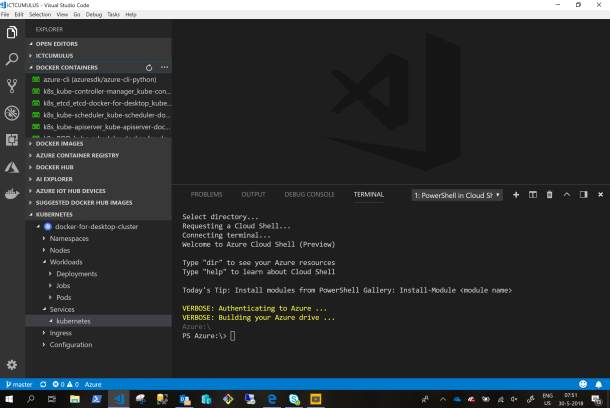 I Love #Microsoft Azure CloudShell in Visual Studio Code #VSC #Azure #Cloud