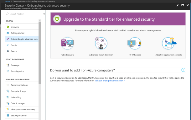 #Microsoft Azure #Security Center Standard for Hybrid Security #Azure #Cloud #SIEM
