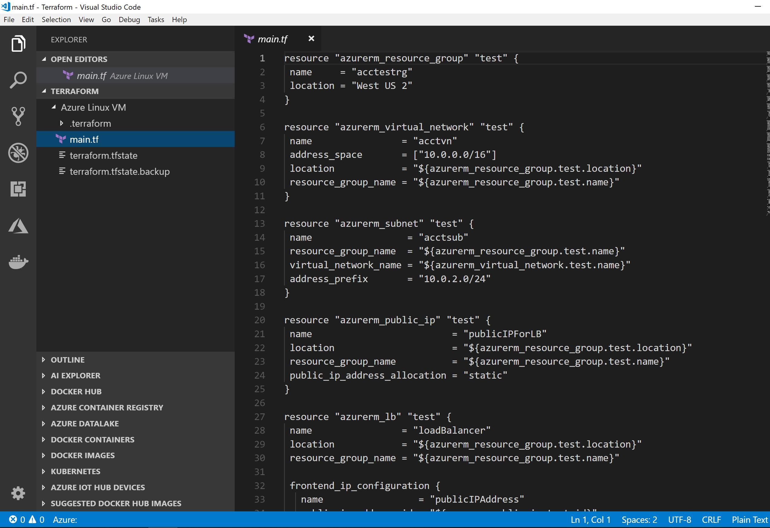 Creating VM Cluster on Azure #Cloud with Terraform #IaC