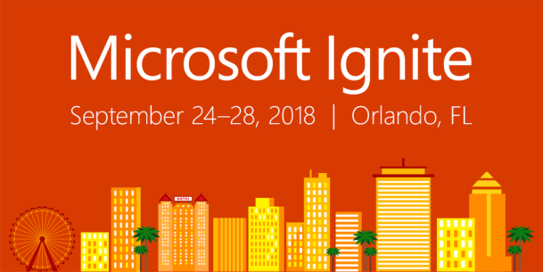 Watch the Live Stream Today of #Microsoft Ignite 2018 in Orlando 24 – 28 September #MSIgnite #Azure #Cloud #DevOps and More