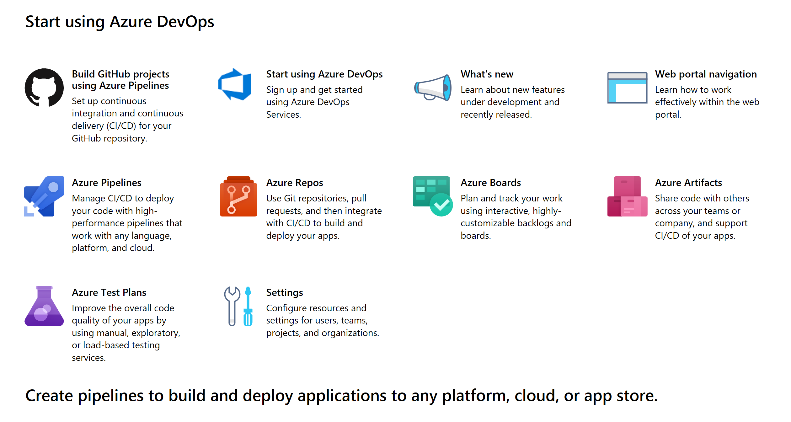 Make your first Pipeline with Azure DevOps Project in the