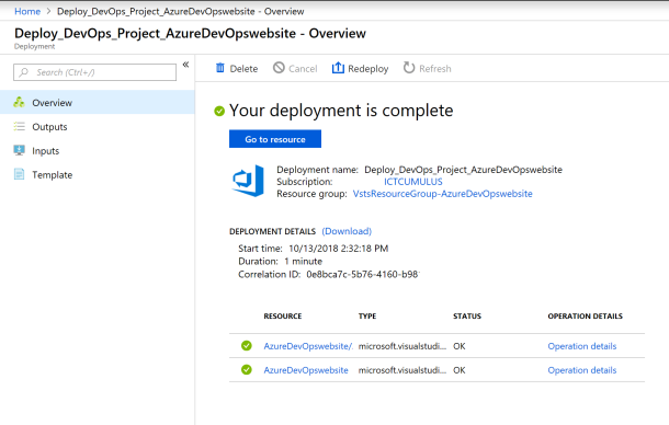 Make your first Pipeline with Azure DevOps Project in the #Cloud